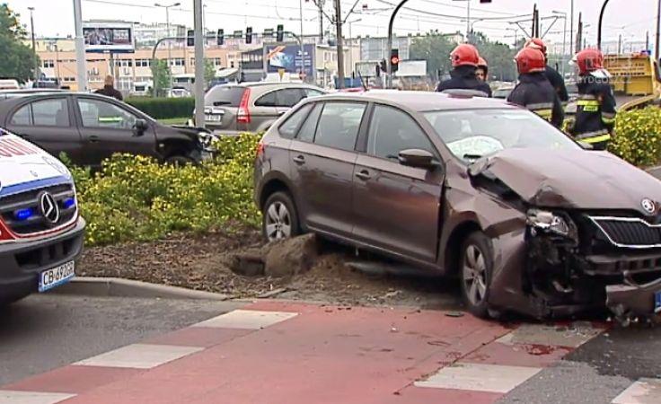 Wypadek na skrzyżowaniu Wojska Polskiego i Magnuszewskiej