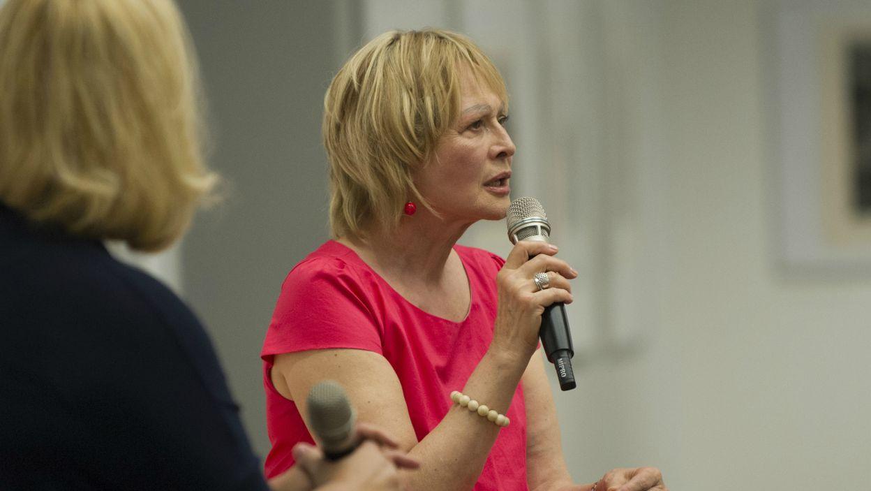Festiwal Dwa Teatry to okazja do spotkań z aktorami. Na pytania widzów odpowiada Grażyna Barszczewska (fot. N. Młudzik/TVP)