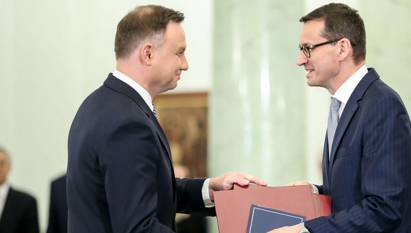 Prezydent Andrzej Duda desygnuje Mateusza Morawieckiego na Prezesa Rady Ministrów 11 grudnia  (fot. Krzysztof Sitkowski/KPRP)