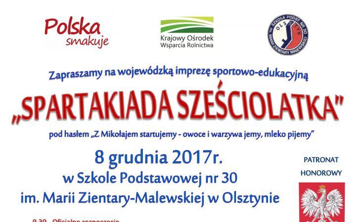 Spartakiada odbędzie się 8 grudnia