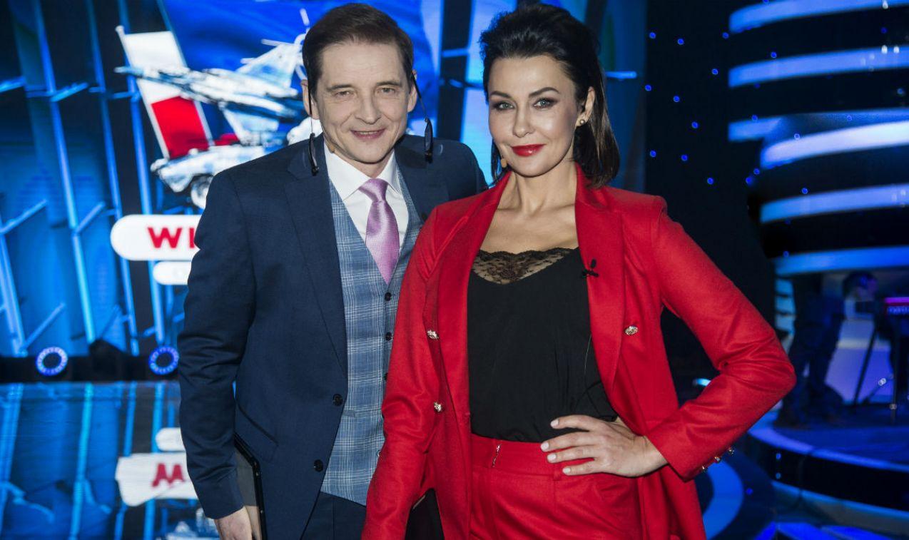 Wielki test poprowadzili: Anna Popek i Przemysław Babiarz (fot. J. Bogacz/TVP)