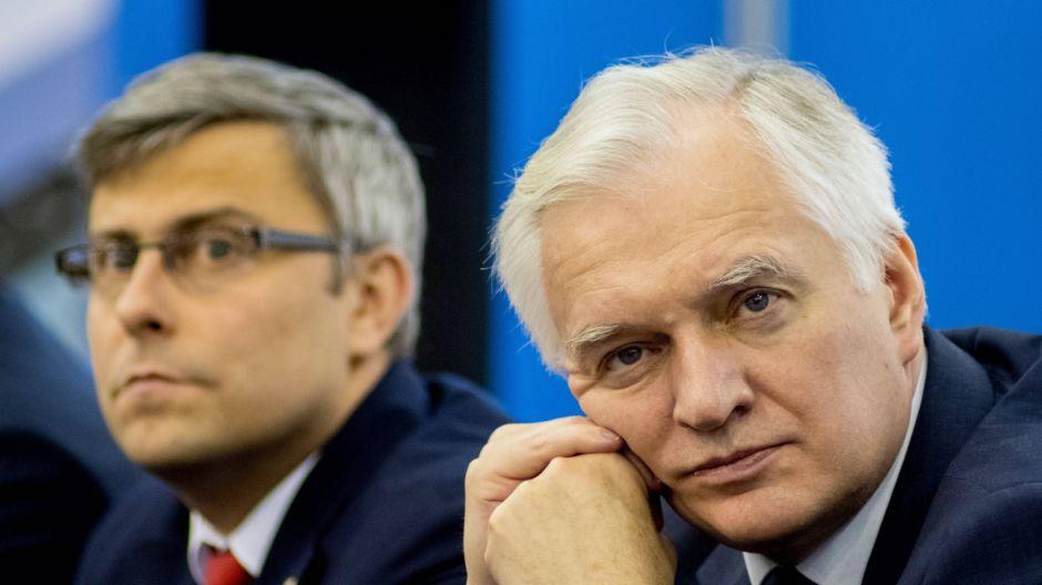 Jarosław Gowin, Jarosław Wieczorek  fot. PAP/Andrzej Grygiel