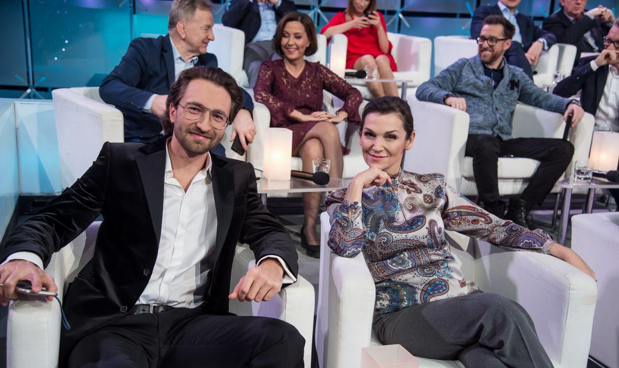 Swoją wiedzą mogli się także pochwalić: Olga Bończyk i Dariusz Wieteska (fot. J. Bogacz/TVP)