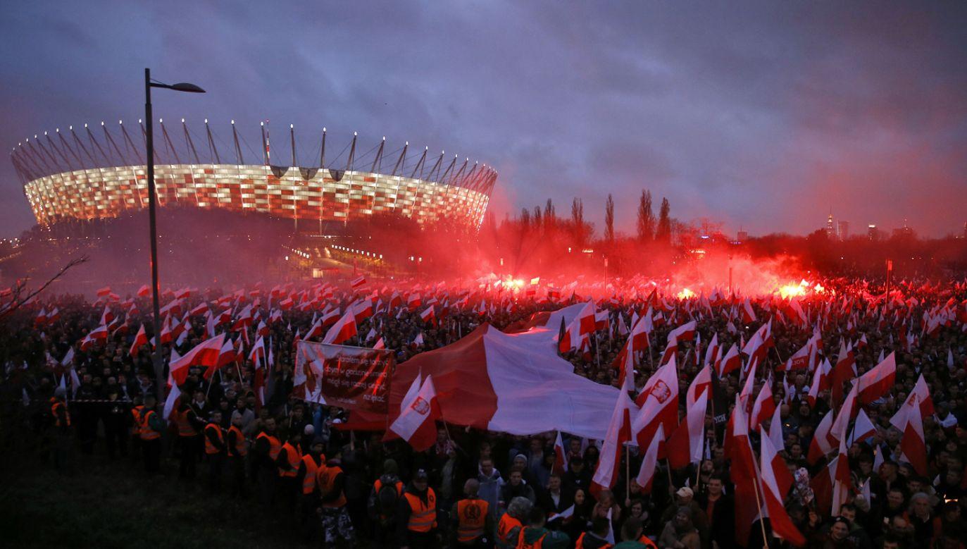 Marsz był próbą generalną przed świętowaniem stulecia odzyskania niepodległości (fot. REUTERS/Kacper Pempel)