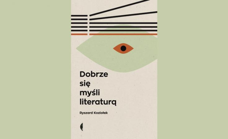 """Okładka książki """"Dobrze się myśli literaturą"""". Foto. www.czarne.com.pl"""