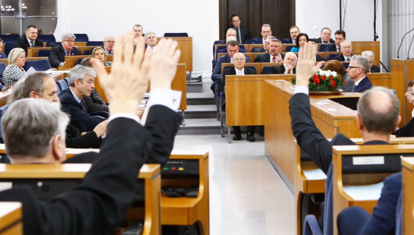 Senat zgłosił poprawki do Konstytucji Biznesu  (fot. twitter/Senat)