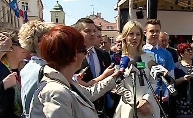 Magdalena Ogórek w Rzeszowie.