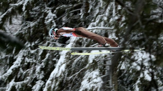 Kamil Stoch w  konkursie indywidualnym  wywalczył srebrny medal (fot. PAP/PAP/Grzegorz Momot)