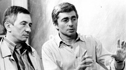 Od lewej: Jerzy Dobrowolski i reżyser Marek Piwowski