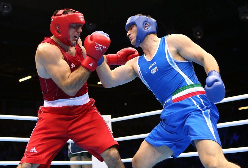 Cammarelle w półfinale wygrał z Magomedrasulem Medzhidovem z Azerbejdżanu (fot. Getty Images)