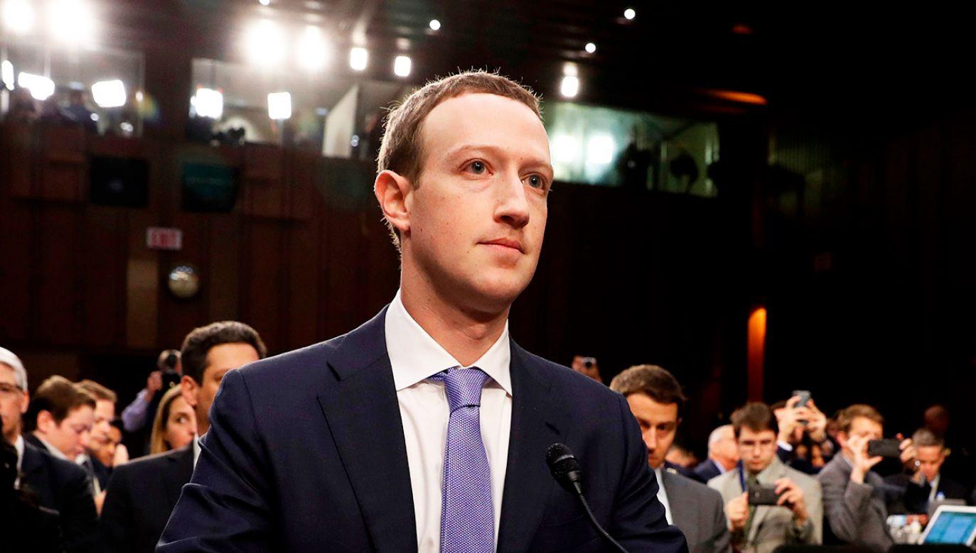 Mark Zuckerberg (fot. REUTERS/Aaron P. Bernstein)