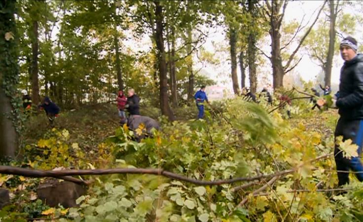 Kilkadziesiąt osób sprzątało poniemiecką nekropolię
