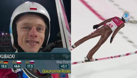 Skok Dawida Kubackiego w kwalifikacjach, 104,5 m
