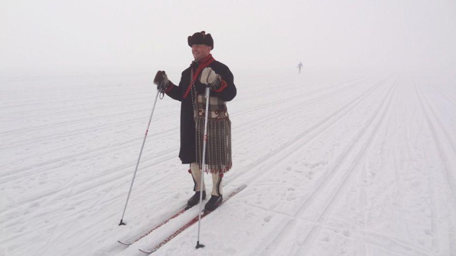 Bartek Koszarek-Benkowy na IX Biegu Podhalańskim w Nowym Targu  (fot. mmas)