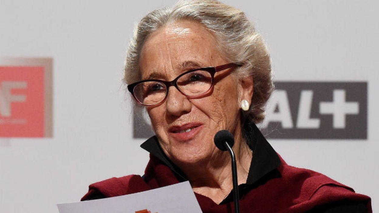 Maja Komorowska również uczestniczyła w gali, na której przedstawiono nominacje (fot. PAP/Radek Pietruszka)