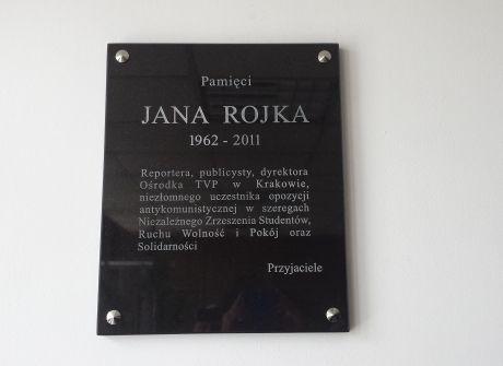 Tablica pamięci Jana Rojka