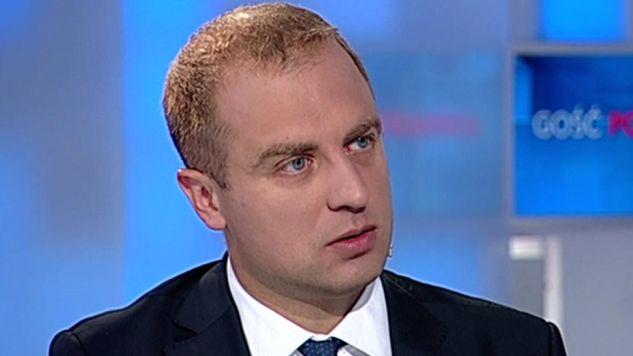 Wiceminister obrony narodowej Tomasz Szatkowski  w TVP Info (fot. TVP Info)