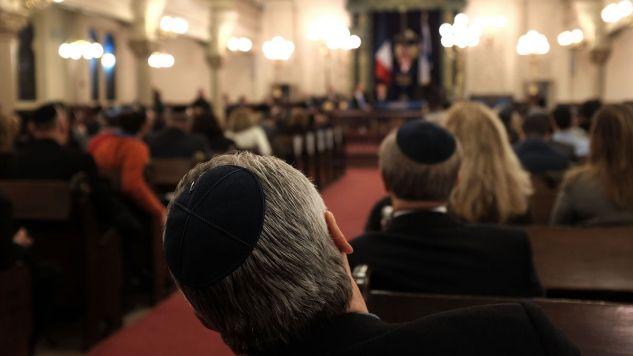 """Trzysta wpływowych osób podpisało manifest """"przeciw nowemu antysemityzmowi"""" we Francji (fot.  Spencer Platt/Getty Images)"""