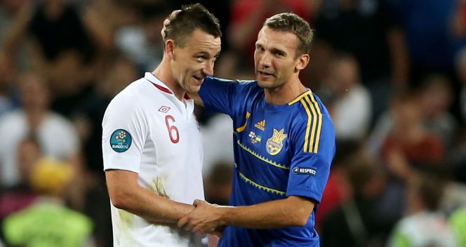 John Terry i Andrij Szewczenko (fot. Getty Images)