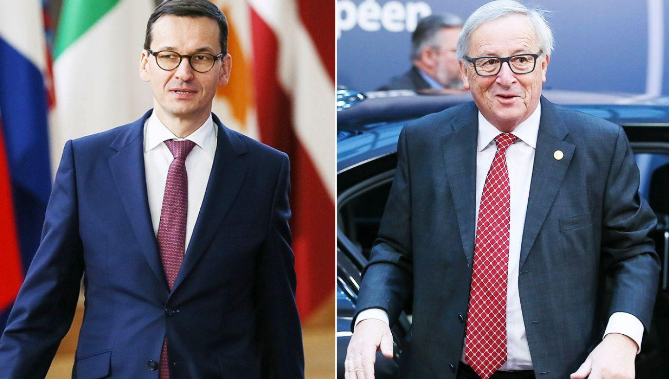 Premier Mateuszm Morawiecki spotka się w styczniu z szefem KE (fot. PAP/EPA/STEPHANIE LECOCQ / POOL(2)