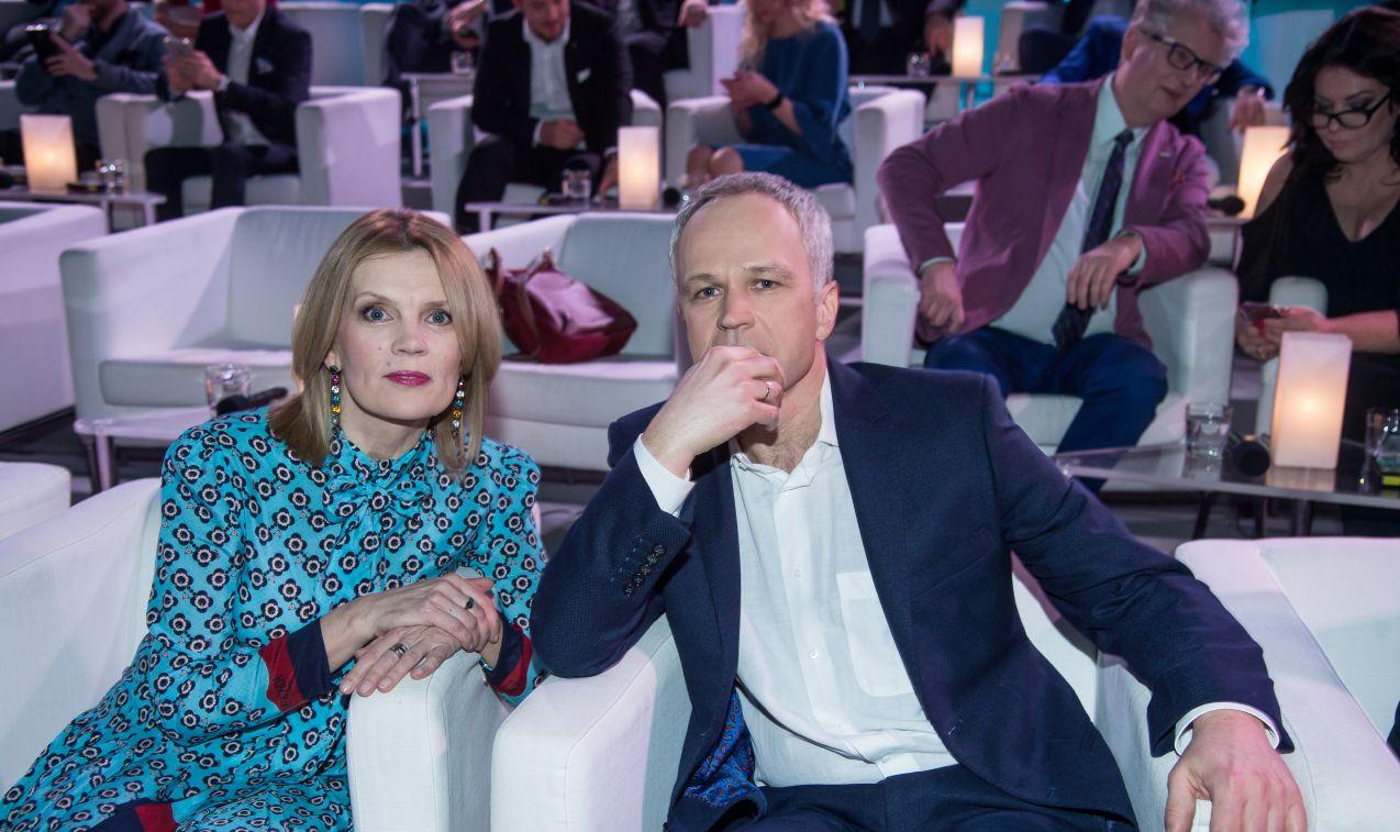 Udział w teście wzięło wiele gwiazd, m.in. Radosław Pazura i Dorota Chotecka... (fot. J. Bogacz/TVP)