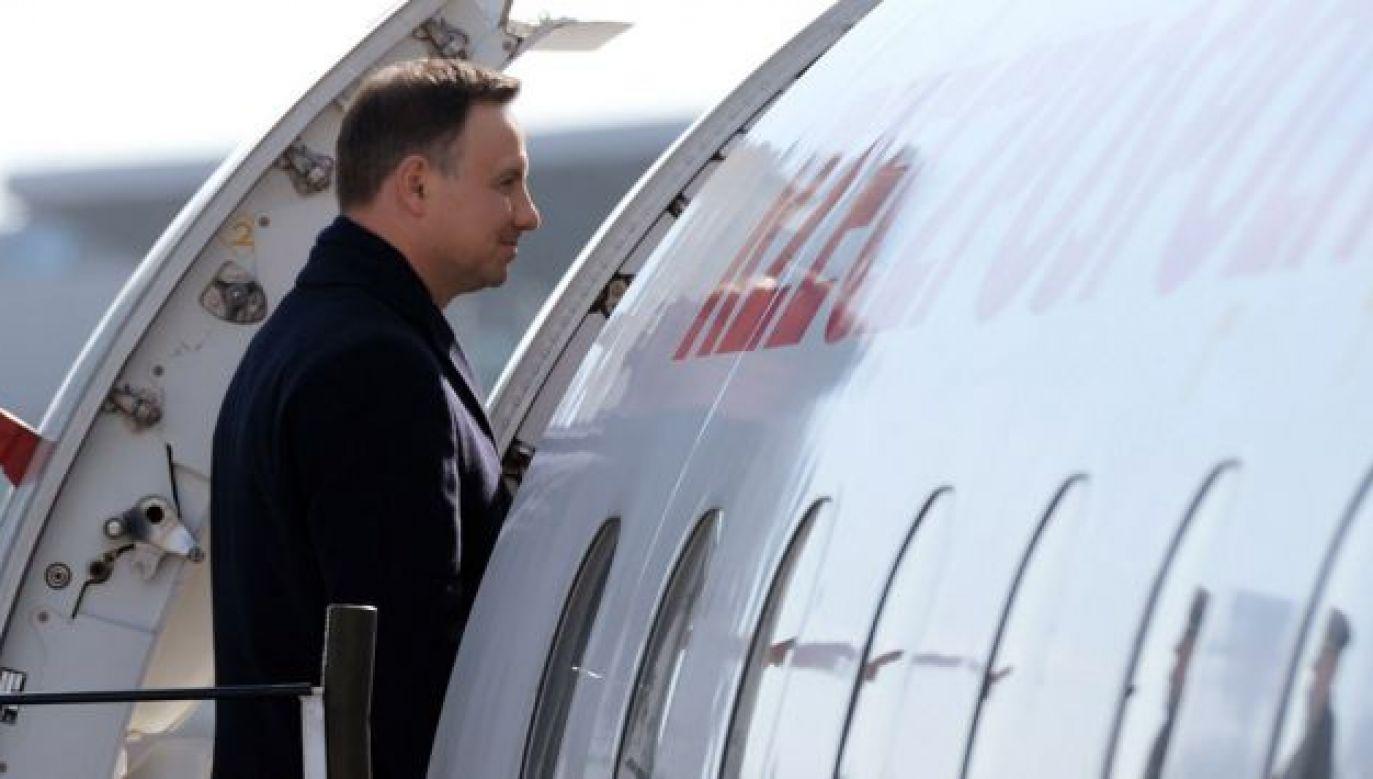 Prezydent Andrzej Duda w czwartek wyleciał do Nowego Jorku (fot. KPRP)