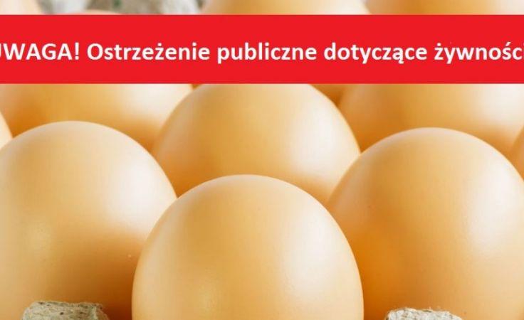 Uwaga! Jaja z salmonellą. Sanepid ostrzega