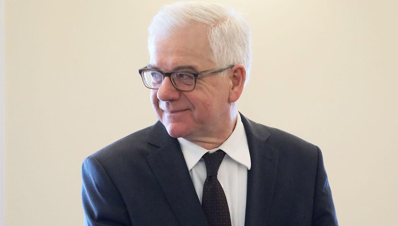 Minister spraw zagranicznych Jacek Czaputowicz (fot. PAP/Paweł Supernak)