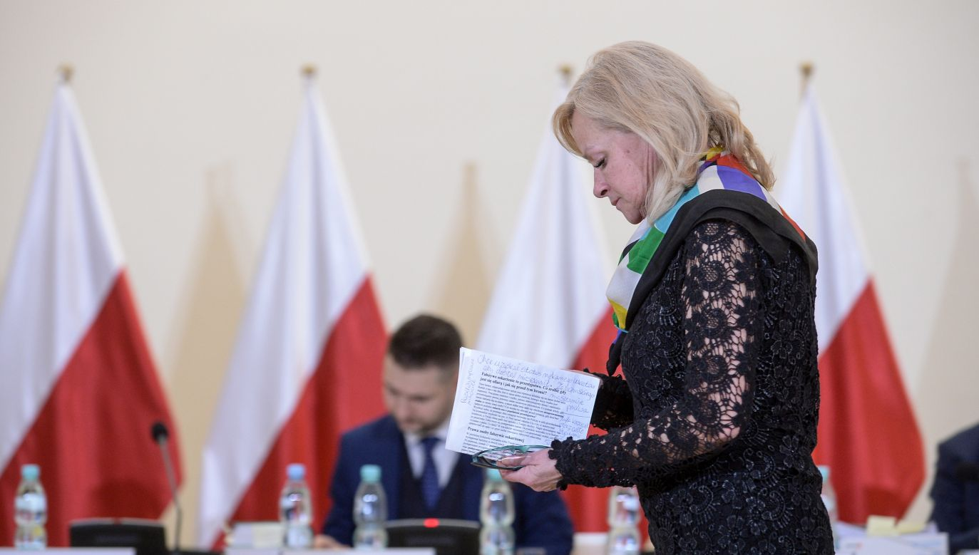 Właścicielka kamienicy przy ul. Lutosławskiego 9 (fot. PAP/Marcin Obara)