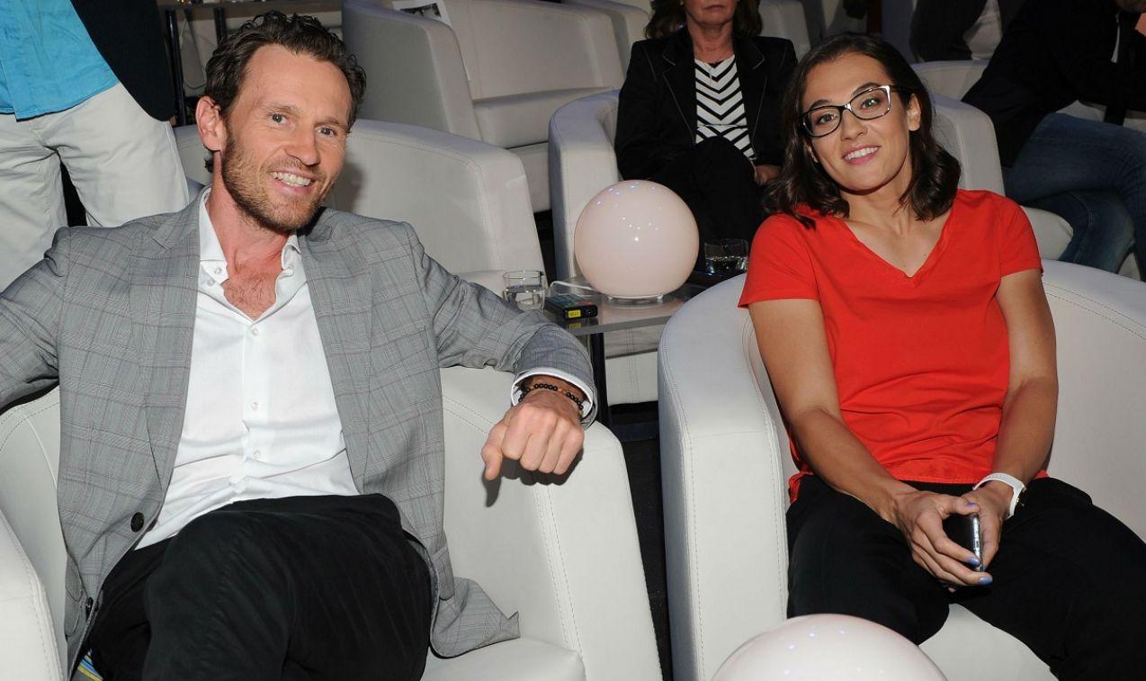 Sportową rywalizację zapewnili Mariusz Czerkawski i Ewa Piątkowska (fot. Natasza Młudzik/TVP)