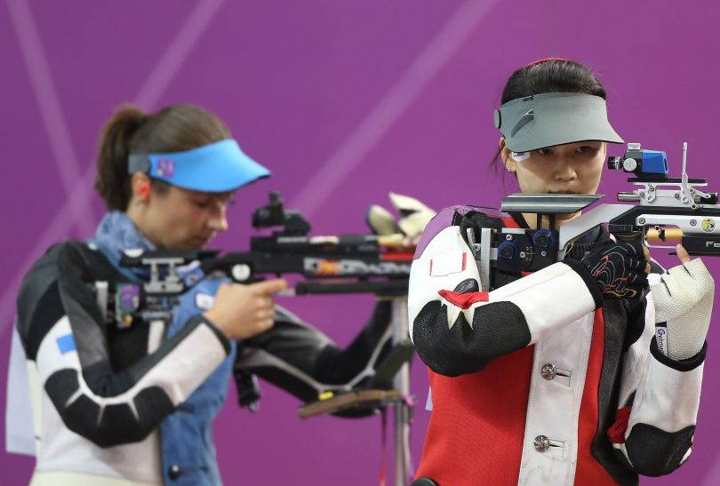 Chinka Siling Yi wprzedziła Polkę po 8 strzale (fot. PAP/EPA)