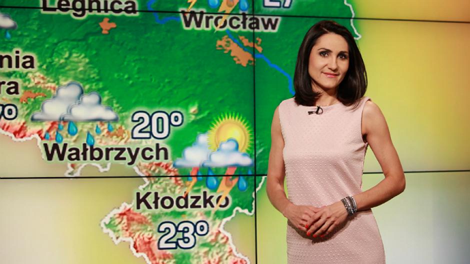 Katarzyna Lewandowska – studio Pogody (fot. Łukasz Owsiany)