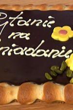 Mazurek czekoladowy z marcepanem
