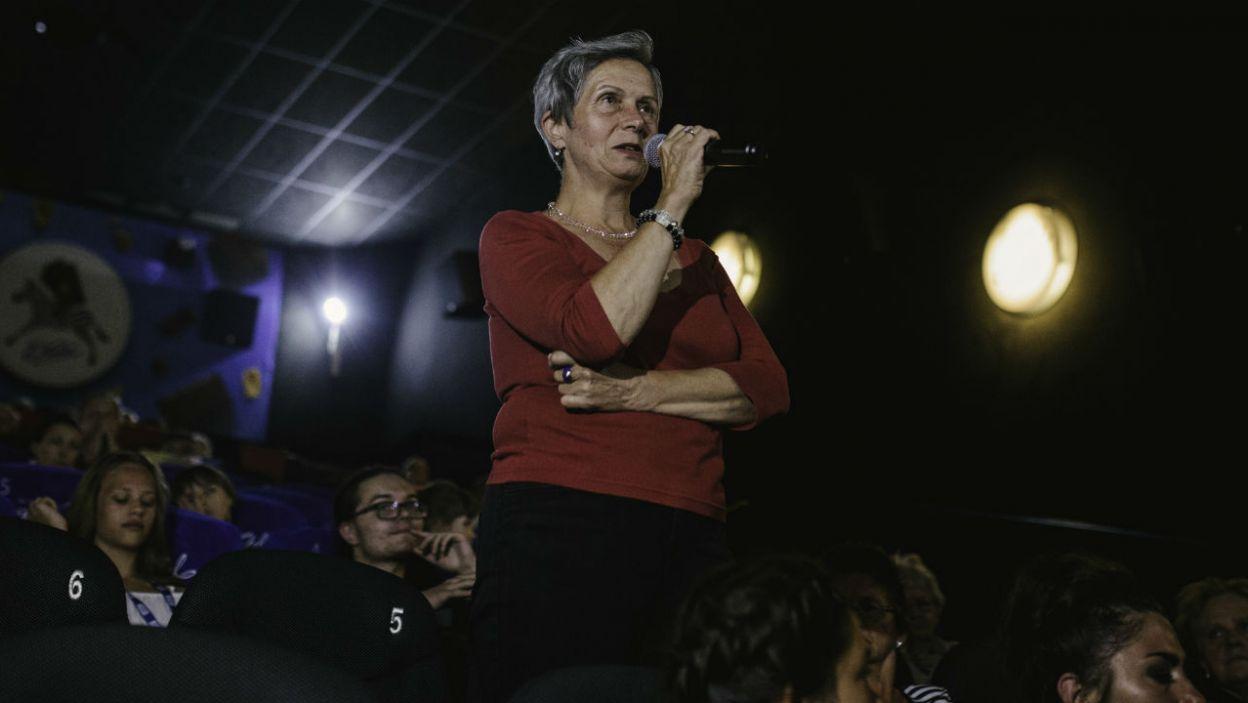 Pojawiły się także pytania od publiczności (fot. TVP)