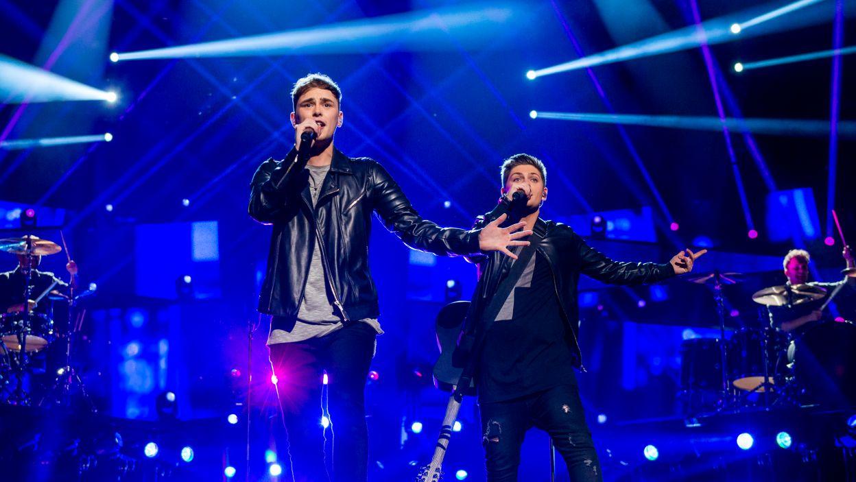 Joe and Jake –  ten duet z Wielkiej Brytanii nie sprawdził się na Eurowizji, panowie zajęli trzecie miejsce... od końca (fot. Anna Velikova)