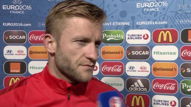 Kuba Błaszczykowski strzelił gola na 1:0 w meczu ze Szwajcarią (fot. TVP)