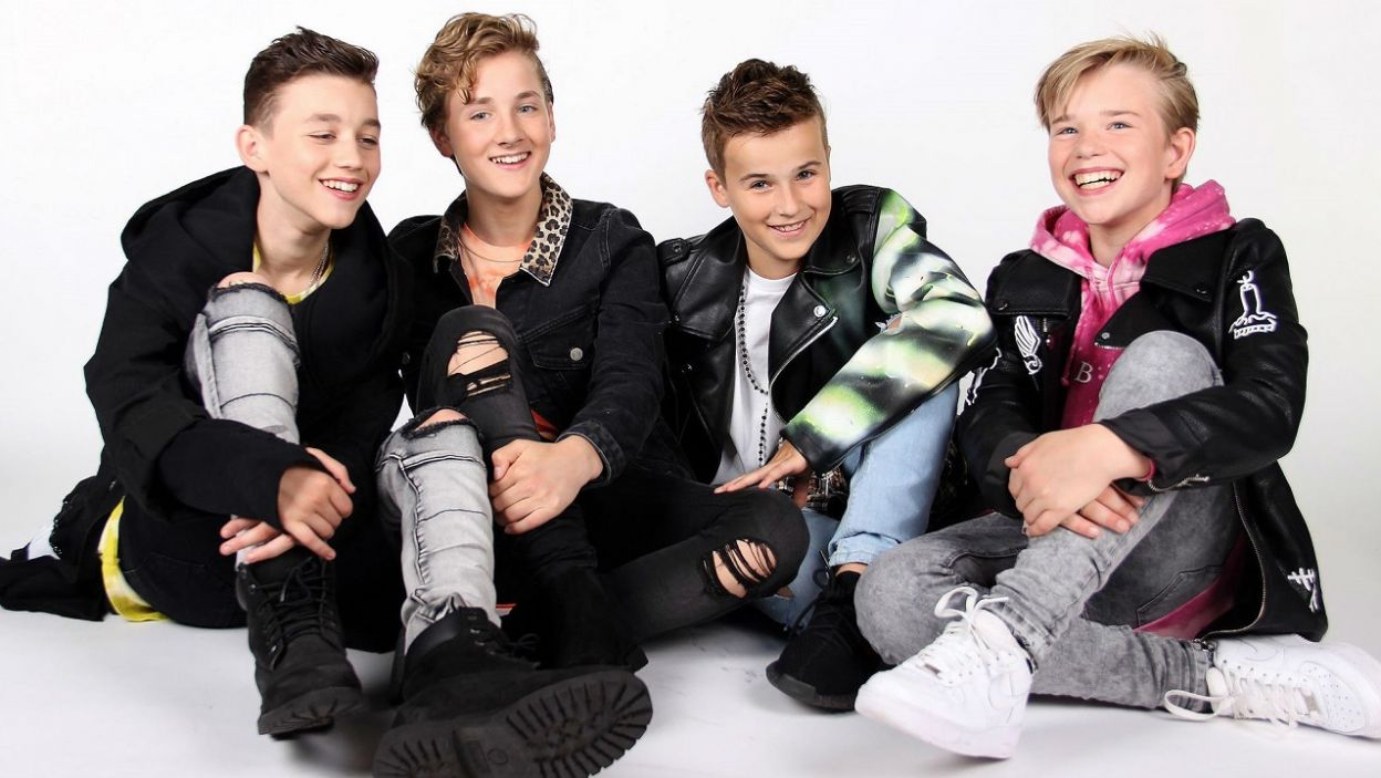 """Czy publiczność pokocha Holendrów? Fource zaśpiewają dla nich """"Love me"""" (Fot. Facebook/Junior Eurovision Song Contest)"""