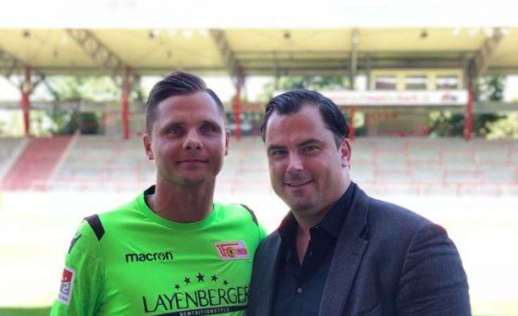 Rafał Gikiewicz i jego agent Maikel Stevens (fot. twitter/gikiewicz33)