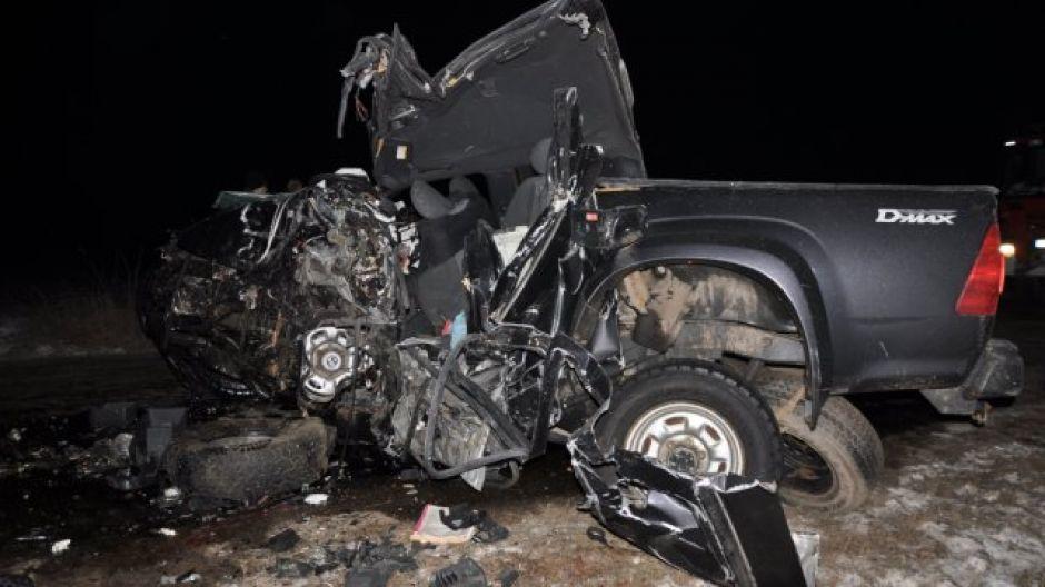 Wypadek w gminie Kozłowo (fot. KWP Olsztyn)