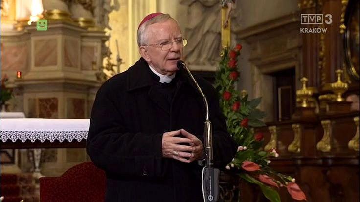 Abp Marek Jędraszewski podczas spotkania w kolegiacie św. Anny