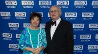 Dyrektor TVP3 Szczecin Maria Bartczak i prof. Tadeusz Maliński