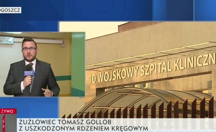 Relacja Huberta Malinowskiego ze szpitala (TVP INFO)