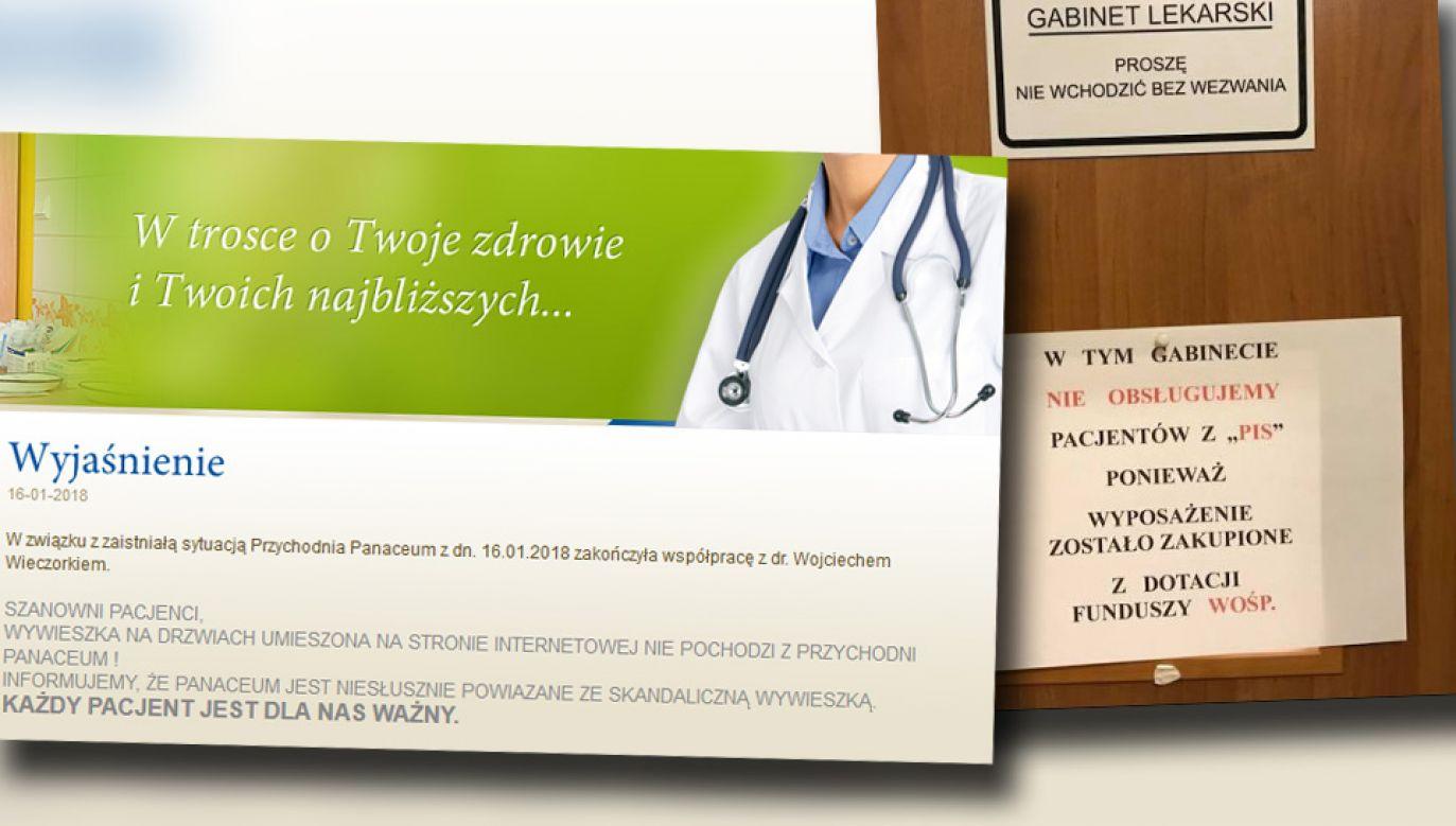 NZOZ Panaceum zakończyl współpracę lekarzem (fot. TT)