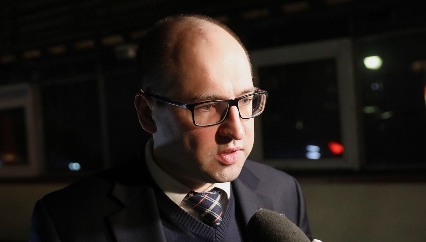 Wicemarszałek senatu Adam Bielan (fot. PAP/Rafał Guz)