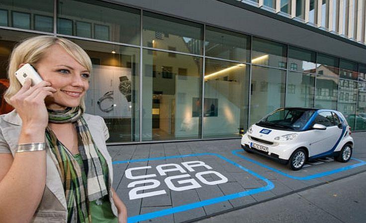 Wypożyczalnia niewielkich aut działa podobnie do miejskich wypożyczalni rowerów