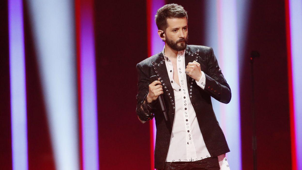 Więcej szczęścia miał reprezentant Albanii – Eugent Bushpepa. Piosenka zaśpiewana w ojczystym języku na tyle spodobała się widzom, że usłyszymy ją jeszcze raz (fot. A. Putting/EBU)