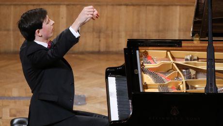 Łukasz Krupiński podczas drugiego etapu konkursu (fot. PAP/Paweł Supernak)