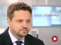 """Trzaskowski bagatelizuje sprawę dowozu mebli na posiedzenia rządu. """"Co w tym podniecającego?"""" Boi się wyborczych sondaży"""