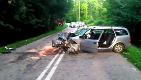 19-letni kierowca opla był trzeźwy (fot. KWP Olsztyn)