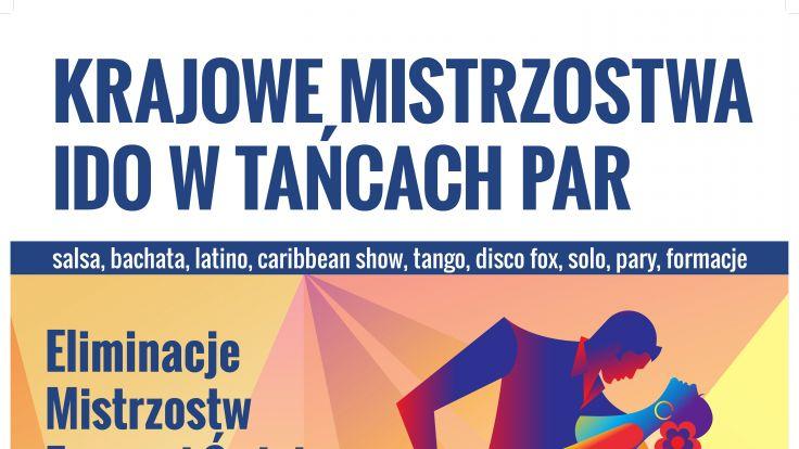 Krajowe Mistrzostwa IDO w Tańcach Par (plakat organizatora)